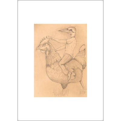 Edwin and Friend - Pencil Drawing (Mounted)